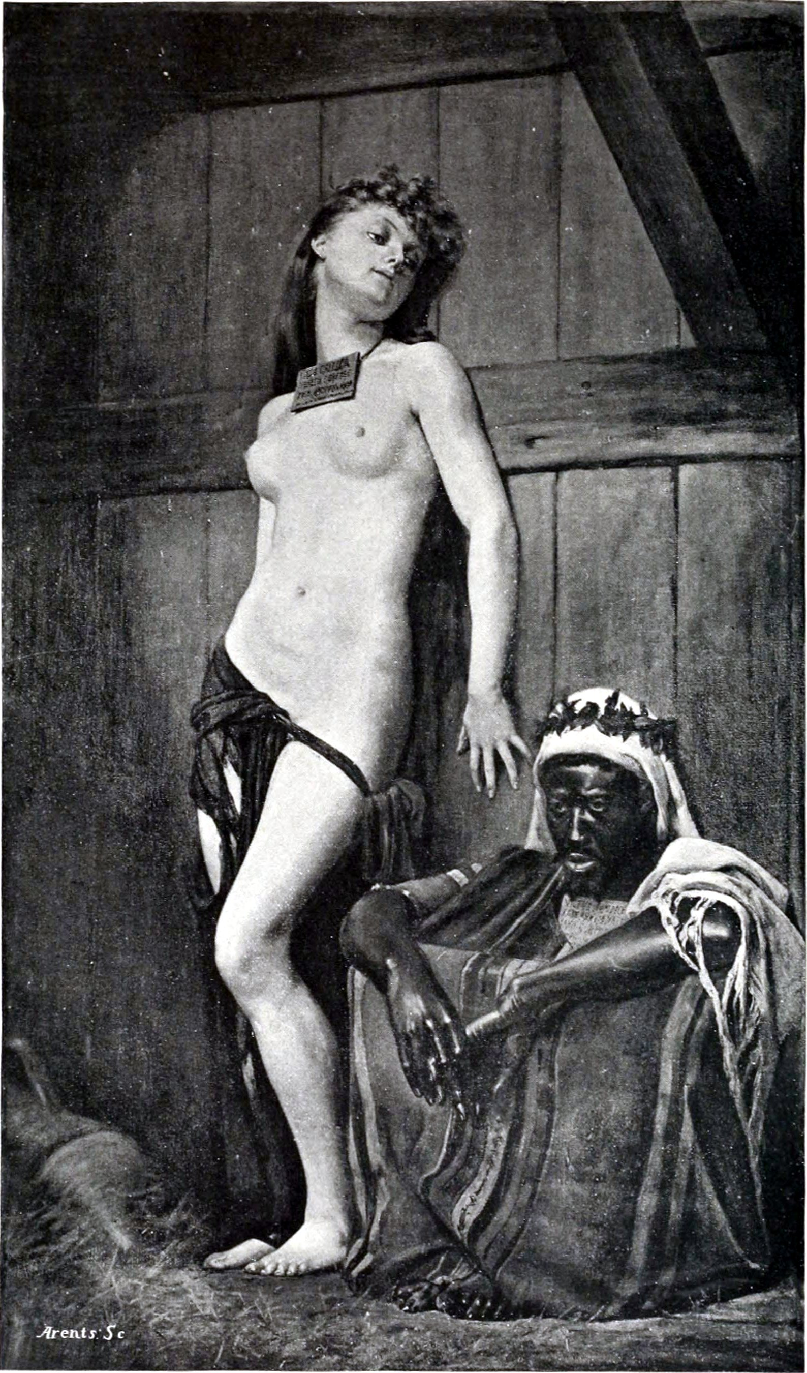 Slaves for sale by French painter Gustave Clarence Rodolphe Boulanger (1824–1888)